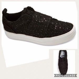 DV Dolce Vita Black Sequined Slip On Larma Sneaker
